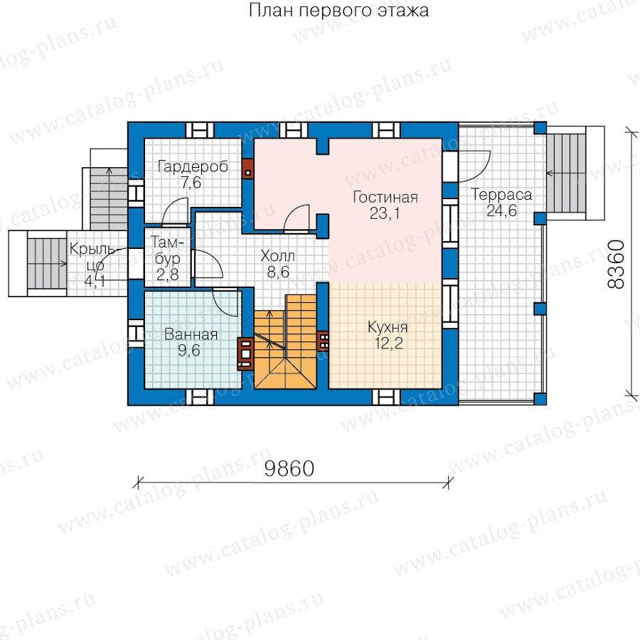 План 2-этажа проекта 40-73
