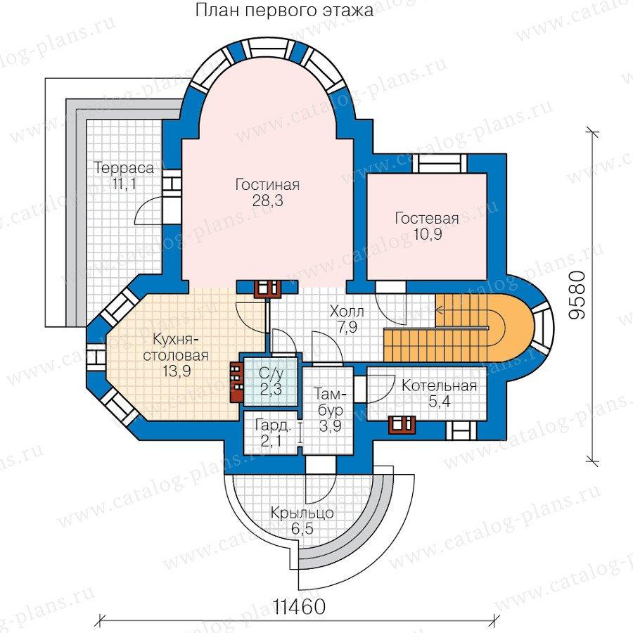 План 1-этажа проекта 40-75L