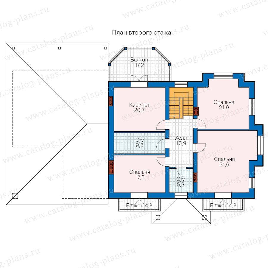 План 2-этажа проекта 40-74