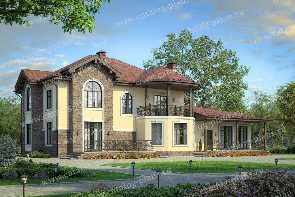 Проект жилой дом #40-74 материал - кирпич, стиль европейский