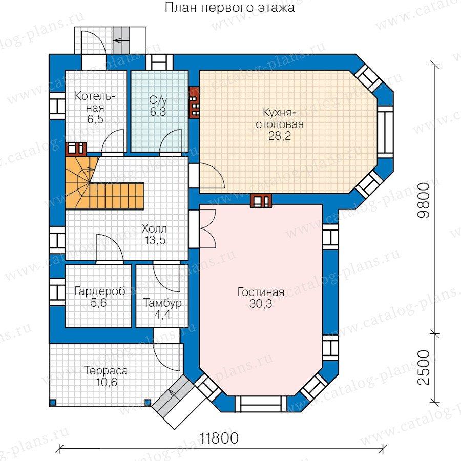 План 1-этажа проекта 58-83L