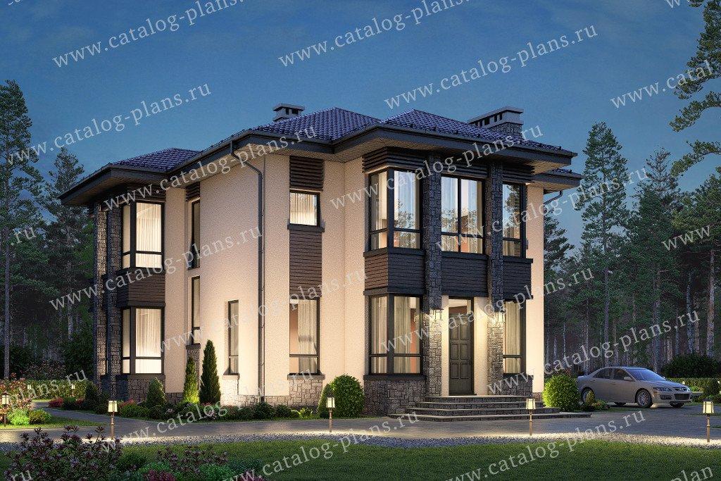 Проект жилой дом #58-87 материал - газобетон, стиль современный