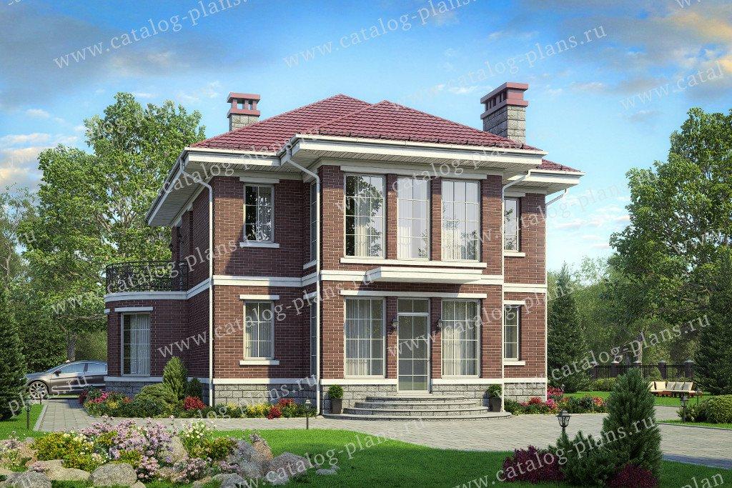 Проект жилой дом #40-70L материал - кирпич, стиль современный