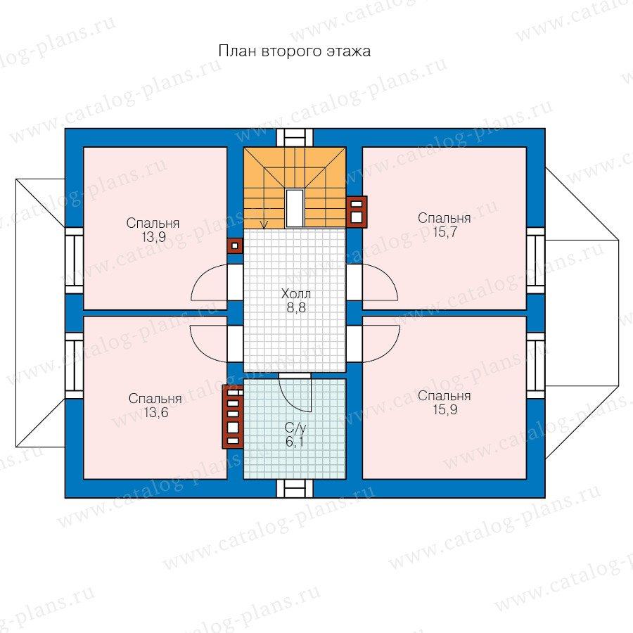 План 2-этажа проекта 58-86