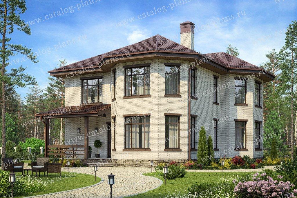 Проект жилой дом #58-83L материал - газобетон, стиль европейский