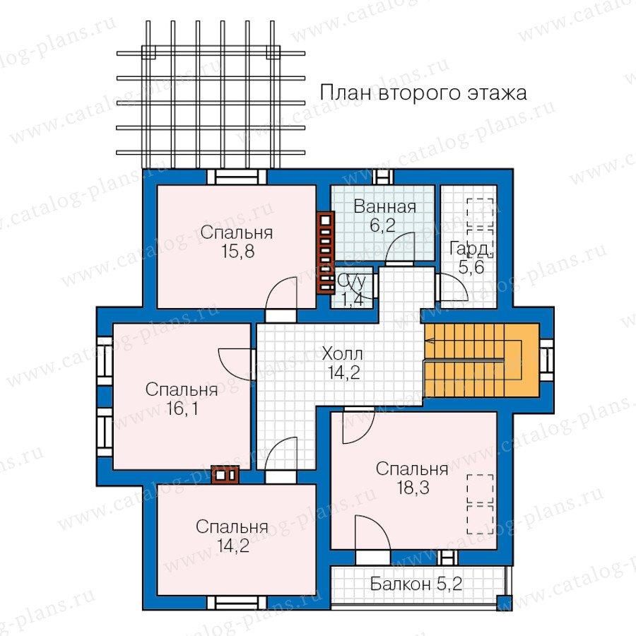 План 2-этажа проекта 57-00C