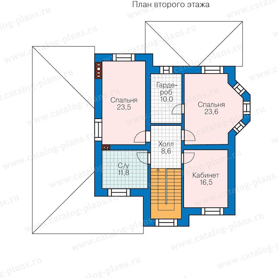 План 2-этажа проекта 58-78L