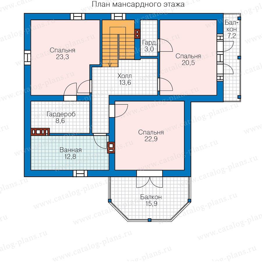 План 2-этажа проекта 58-81