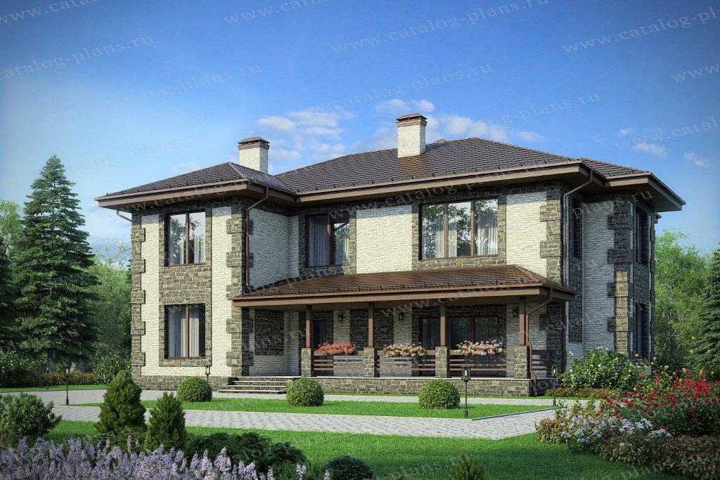 Проект жилой дом #40-43AL материал - кирпич, стиль европейский