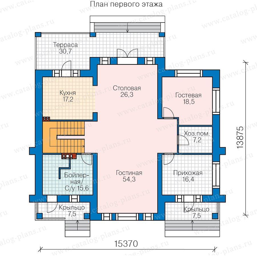 План 1-этажа проекта 40-63L