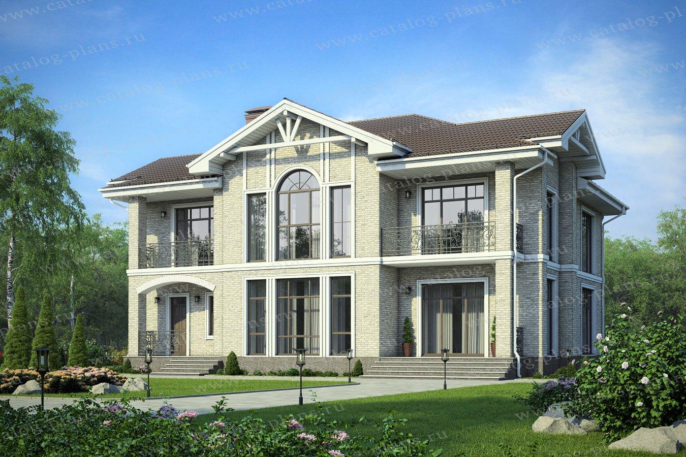 Проект жилой дом #40-63L материал - кирпич, стиль европейский