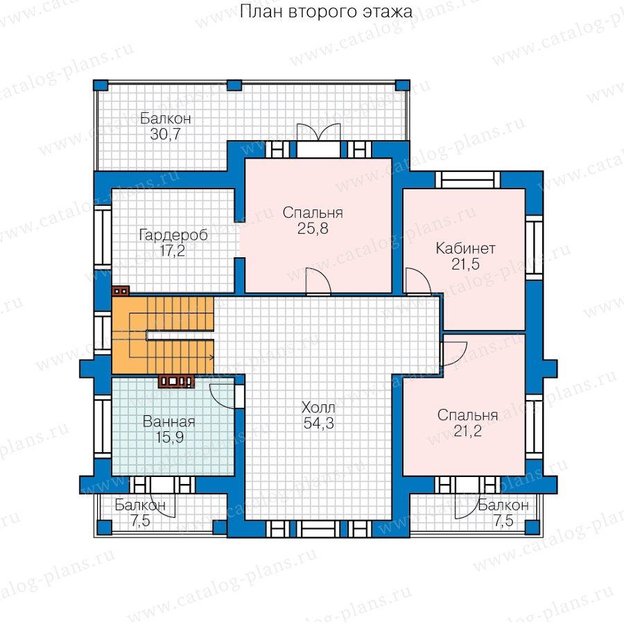 План 2-этажа проекта 40-63L