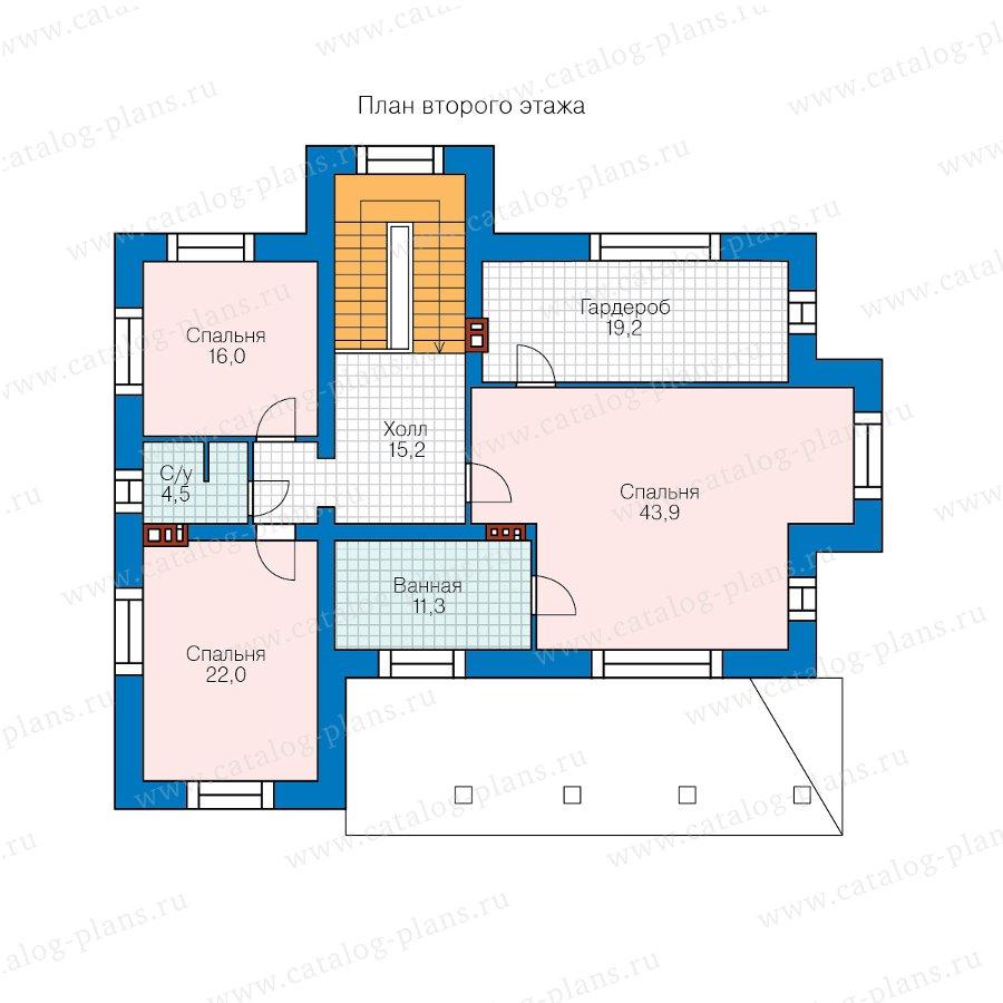План 2-этажа проекта 40-43AL
