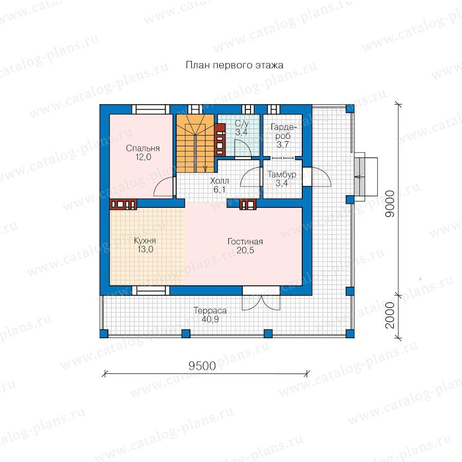 План 2-этажа проекта 58-80