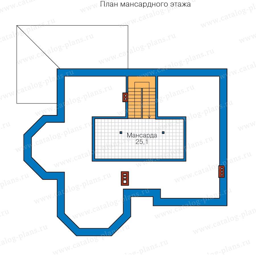 План 3-этажа проекта 40-65L
