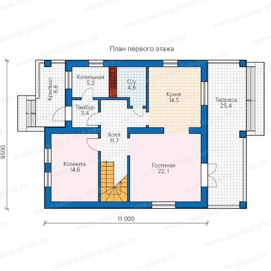 План 1-этажа проекта 57-07B