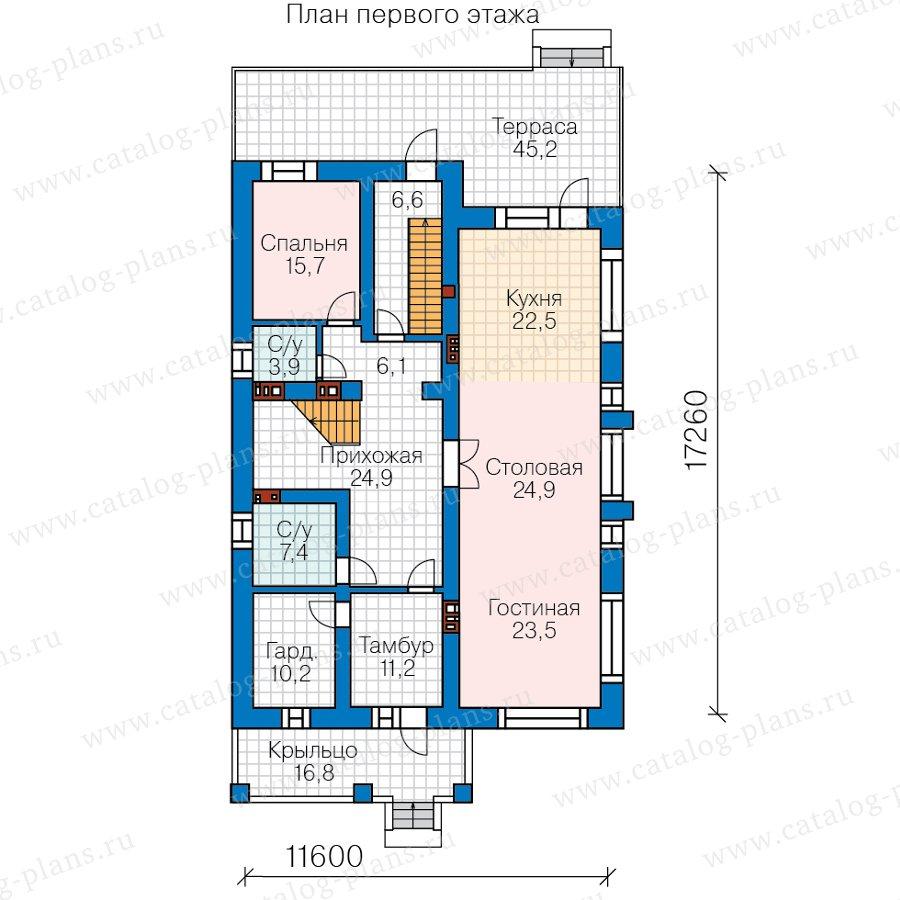 План 2-этажа проекта 40-30C