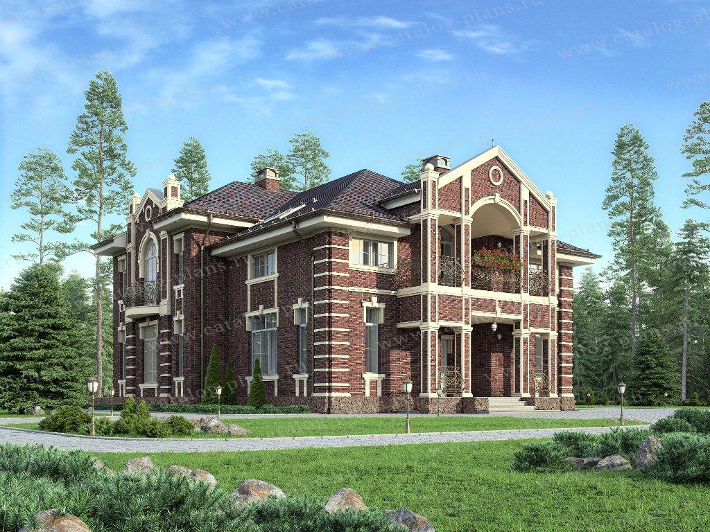 Проект жилой дом #40-76L материал - кирпич, стиль