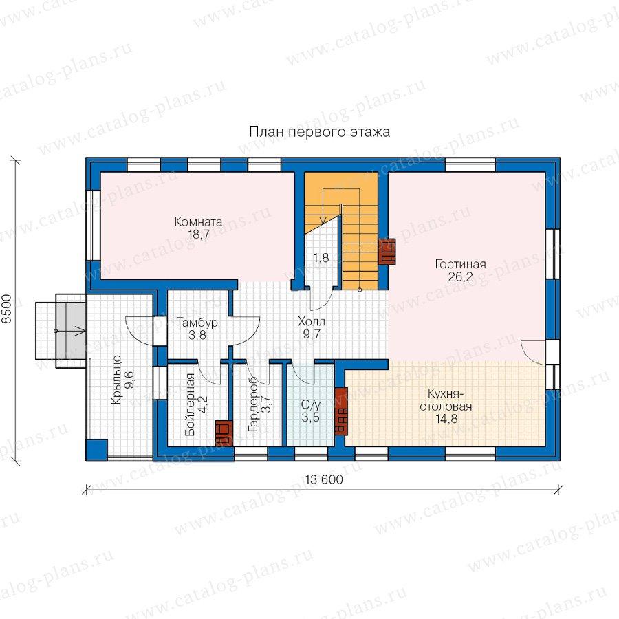План 1-этажа проекта 40-71L