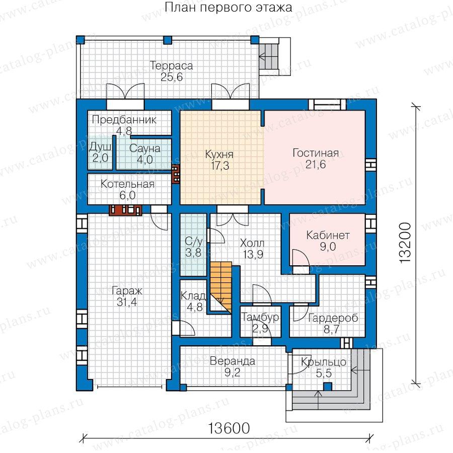 План 1-этажа проекта 57-48А