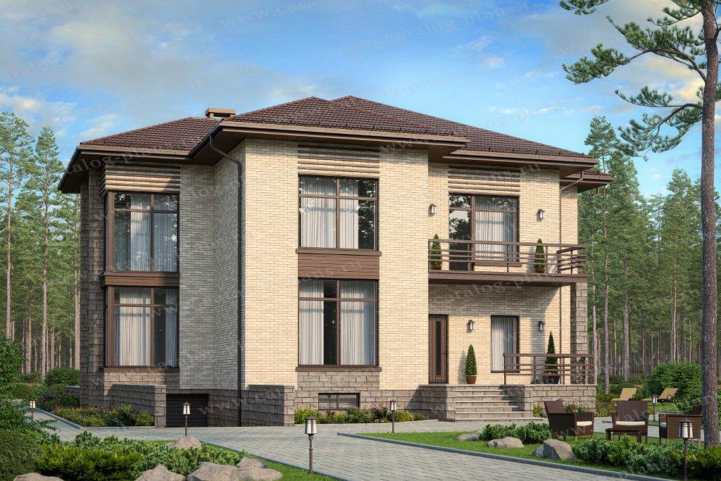 Проект жилой дом #48-24CG материал - газобетон, стиль современный