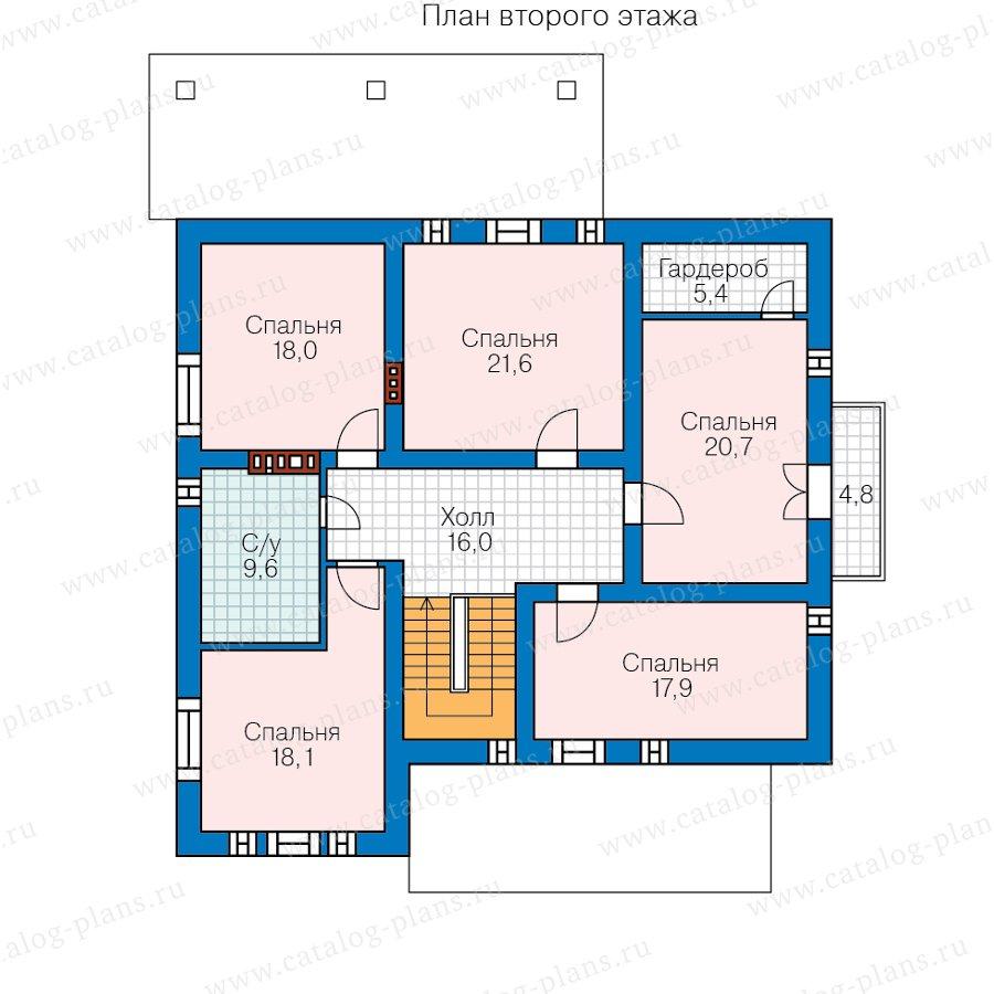 План 2-этажа проекта 57-48А