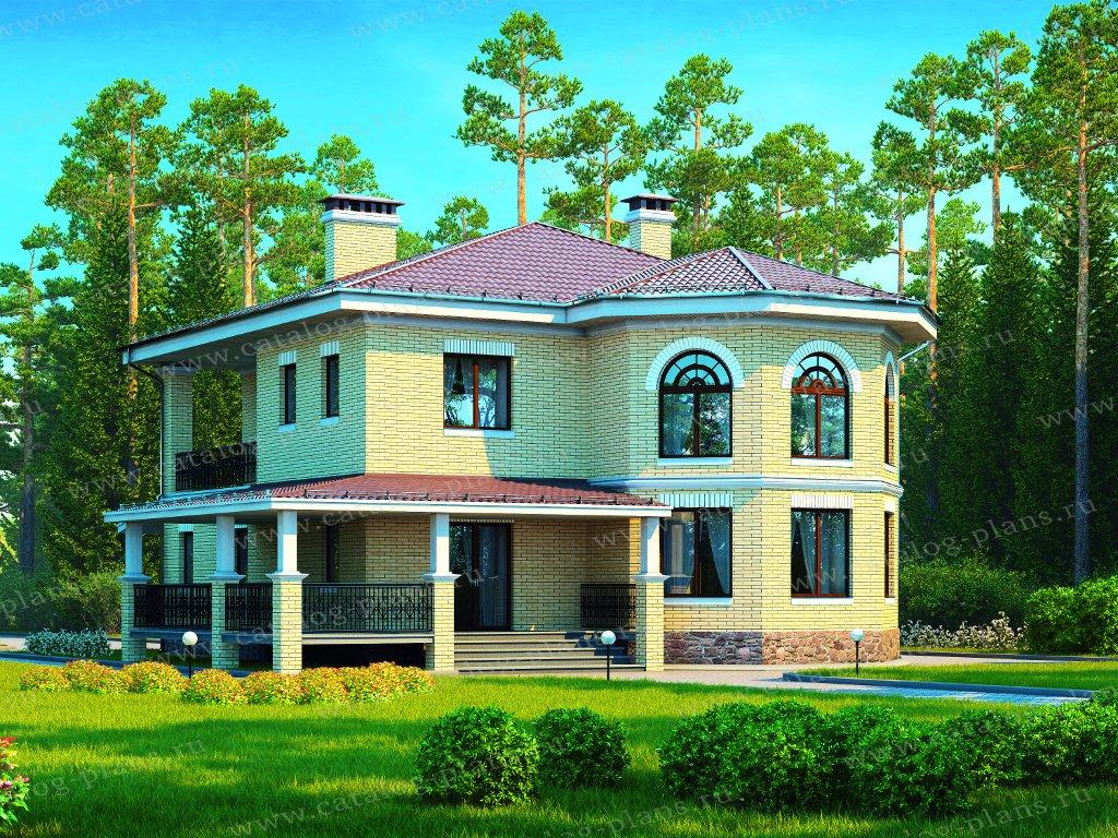 Проект жилой дом #40-13AG материал - газобетон, стиль скандинавский