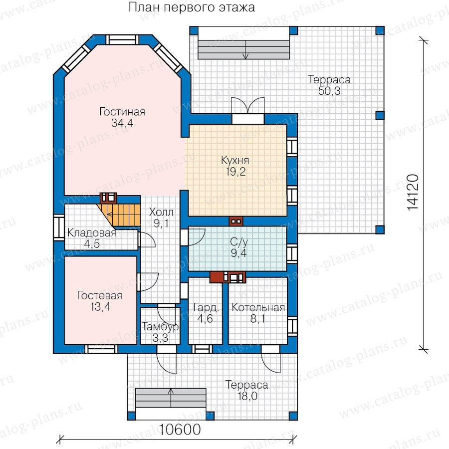 План 1-этажа проекта 40-13AG