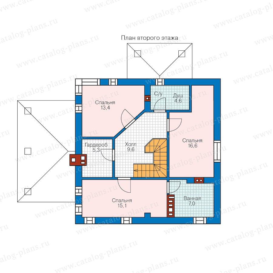 План 2-этажа проекта 59-79A