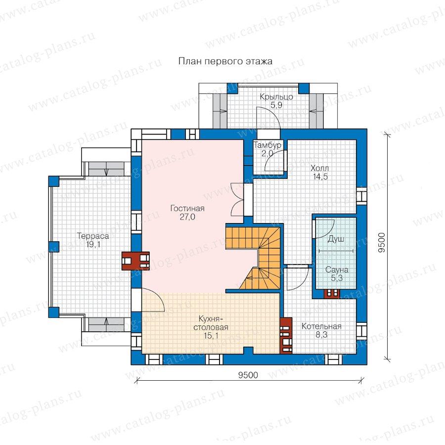 План 1-этажа проекта 59-79A