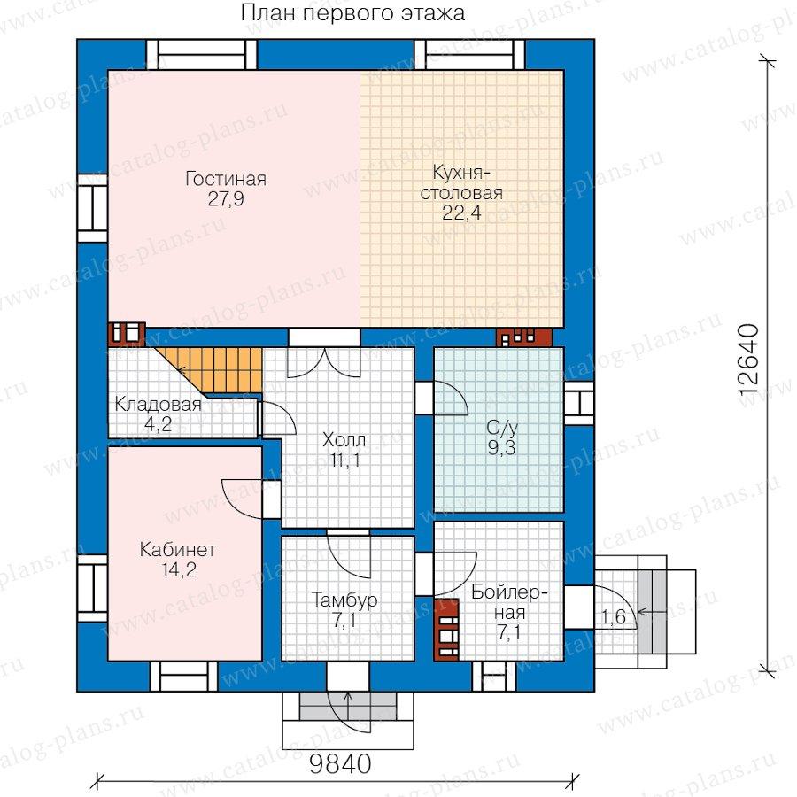 План 1-этажа проекта 57-62С