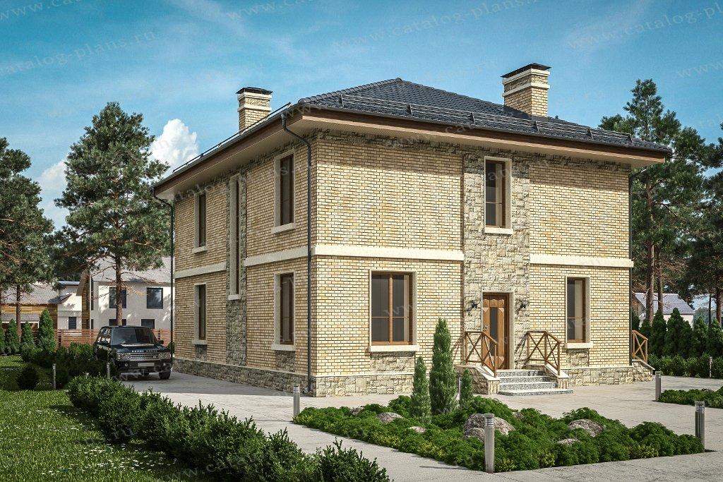 Проект жилой дом #57-62С материал - газобетон, стиль европейский