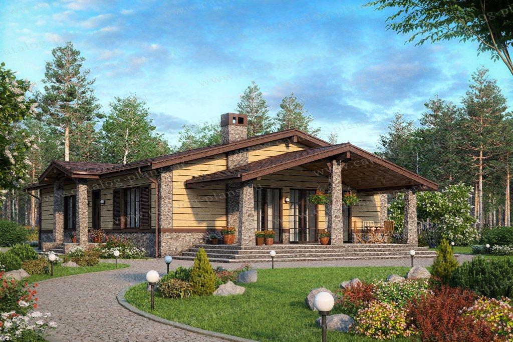 Проект жилой дом #58-84A материал - газобетон, стиль скандинавский