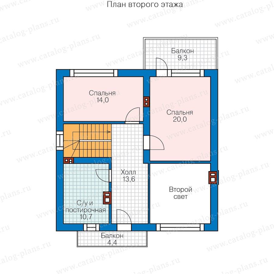 План 2-этажа проекта 58-16A