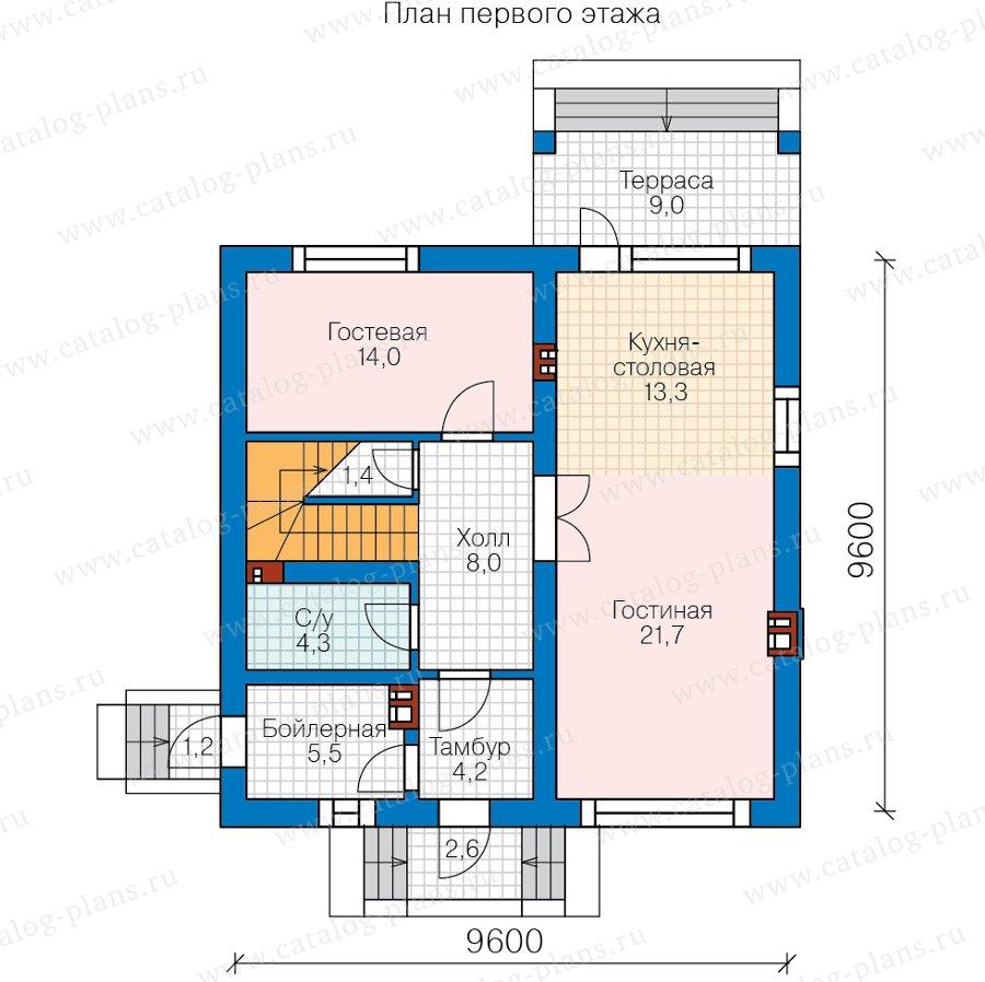 План 1-этажа проекта 58-16A