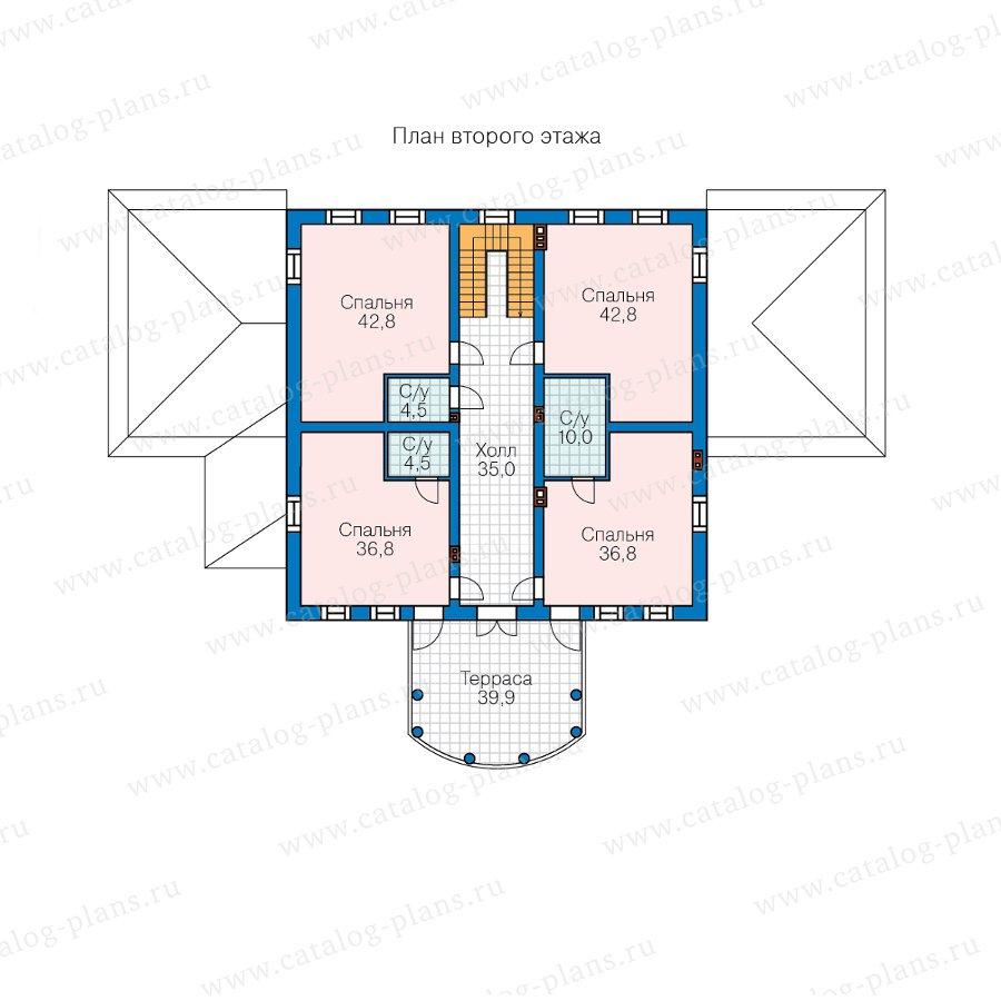 План 2-этажа проекта 58-85A