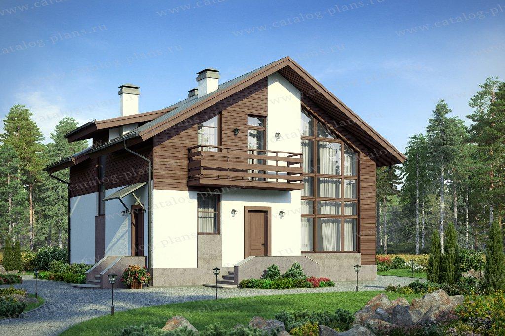 Проект жилой дом #58-16A материал - газобетон, стиль современный