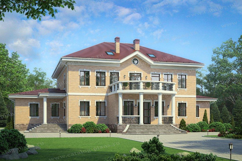 Проект жилой дом #58-85A материал - газобетон, стиль классический