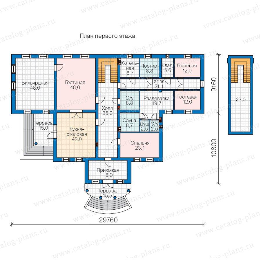 План 1-этажа проекта 58-85A