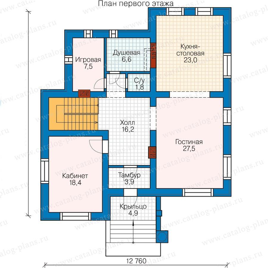 План 2-этажа проекта 59-95D