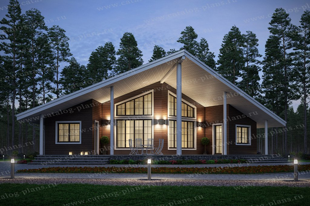 Проект каркасного дома № 70-85 в стиле хай-тек