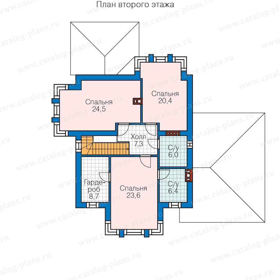 План 2-этажа проекта 58-87A