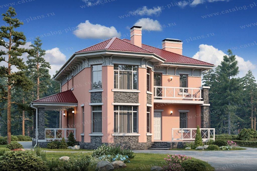 Проект жилой дом #57-01B материал - газобеирн, стиль европейский