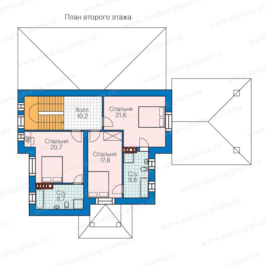 План 2-этажа проекта 40-78