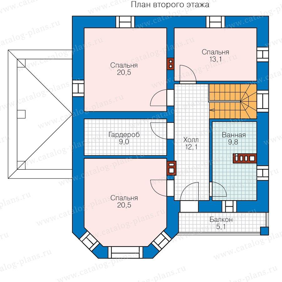 План 2-этажа проекта 57-01B