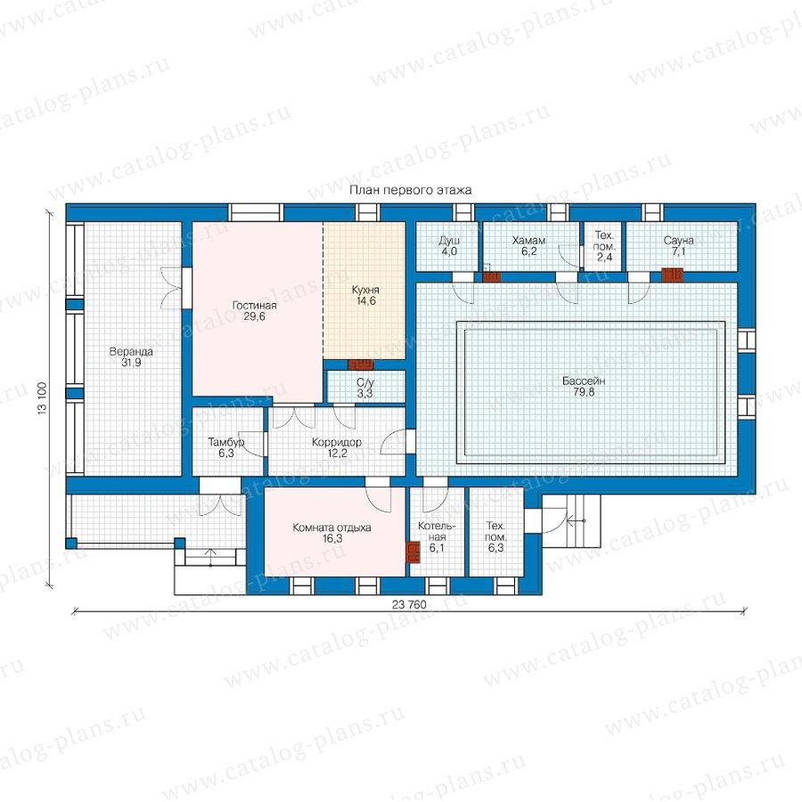 План 1-этажа проекта 90-22А