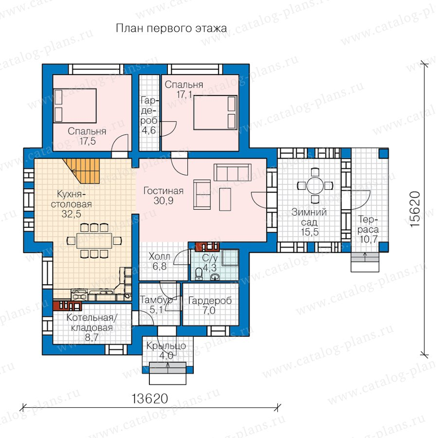 План 1-этажа проекта 40-78