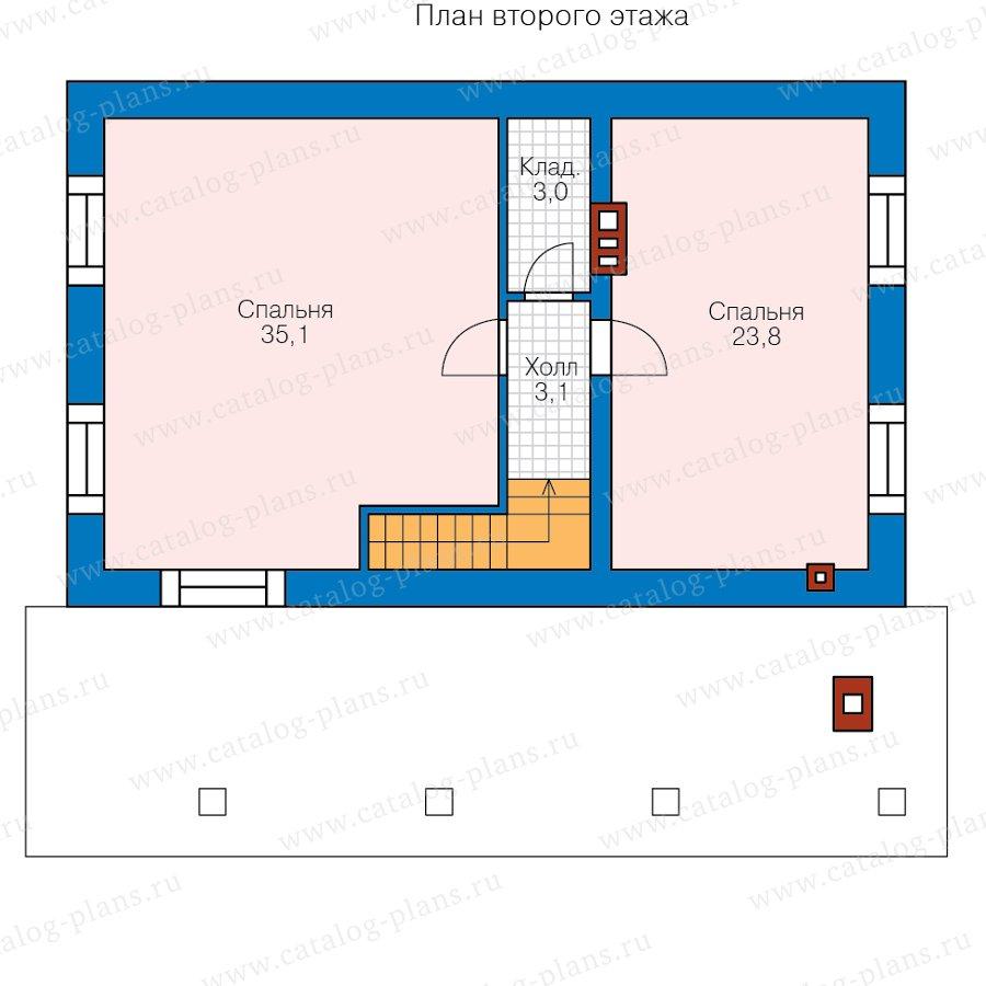 План 2-этажа проекта 90-14А