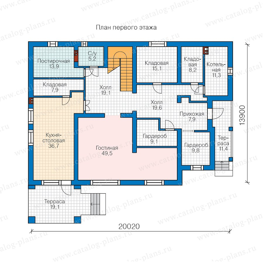 План 1-этажа проекта 58-02A