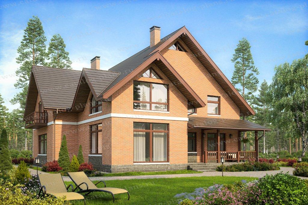 Проект жилой дом #40-18KL материал - кирпич, стиль современный